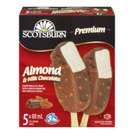 Ice Cream Bars, Vanilla Almond