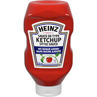 No Sugar Added Ketchup, Upside Down Squeeze Bottle