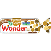 100% Whole Wheat + Fibre Bread