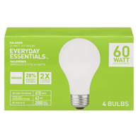 A19 Halogen 43W=60W Replacement Light Bulbs