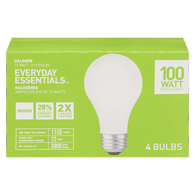 A19 Halogen 72=100W Light Bulbs