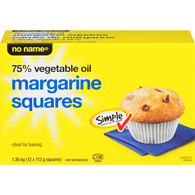 Margarine Squares, 75% Vegetable Oil