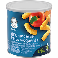 LIL' CRUNCHIES, Apple Sweet Potato, Toddler Snacks