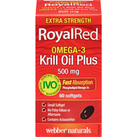 RoyalRed Omega-3 Krill Oil Plus, 500mg