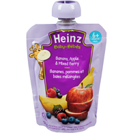 Stage 2 Baby Food Pouch, Banana Apple Mixed Berry