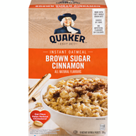 Instant Oatmeal, Brown Sugar & Cinnamon