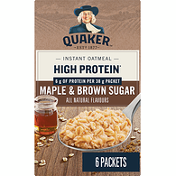 Instant Oatmeal with Protein, Maple & Brown Sugar