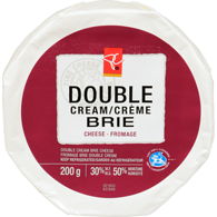 Cheese, Double Cream Brie