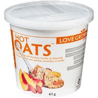 Hot Oats, Peach Almond Vanilla