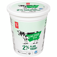 Low Fat Lactose Free Yogurt, Plain 2%