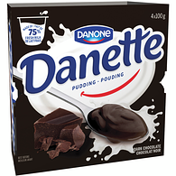 Danette Dark Chocolate Pudding,4x100g