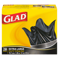 Black Garbage Bags, Extra Large