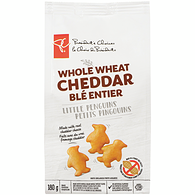 Little Penguins Whole Wheat Snack Crackers, White Cheddar