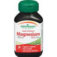 Magnesium with Vitamin  D, 500mg