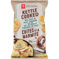 Sea Salt And Malt Vinegar Flavour Kettle Cooked Potato Chips
