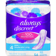 Moderate Incontinence Pads, Long