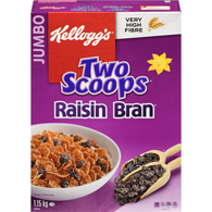 Two Scoops Raisin Bran Jumbo Box