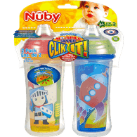 9oz Clik It No-Spill Sipper Cups, 6+ Months