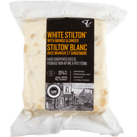 White Stilton with Mango & Ginger Hard Unripened Cheese