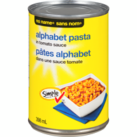 Alphabet Pasta in Tomato Sauce with Cheese