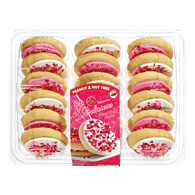 Vanilla Cookies, Pink & White Frosting