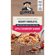 Harvest Instant Oatmeal, Hearty Medleys - Apple Cranberry Almond