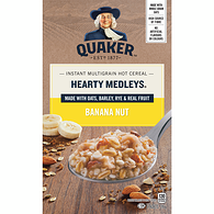 Harvest Instant Oatmeal, Hearty Medleys - Banana Nut