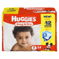 Snug & Dry Diapers, Jumbo Pack Size 3 Diapers
