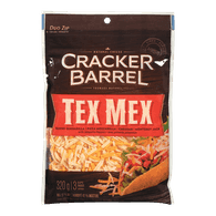 Cracker Barrel Shredded Cheese, Tex Mex