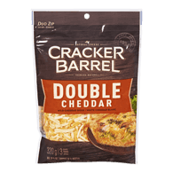 Cracker Barrel Shredded Cheese, Mild Double Cheddar