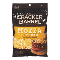 Cracker Barrel Shredded Cheese, Mozza Cheddar