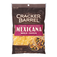 Cracker Barrel Shredded Cheese, Mild 3 Cheese Mexicana
