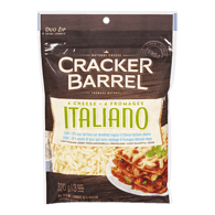 Cracker Barrel Natural Shredded  4-Cheese Italian Cheese, Light