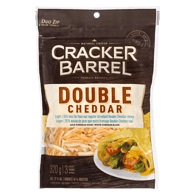 Cracker Barrel Natural Shredded Double Cheddar, Light