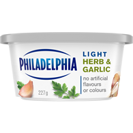 Soft Cream Cheese, Light Herb & Garlic