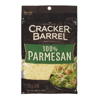 Cracker Barrel Shredded Cheese, 100% Parmesan