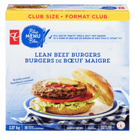 Blue Menu Thick & Juicy Beef Burger, Club Pack
