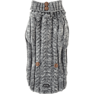 Grey Cable Knit Sweater, Large