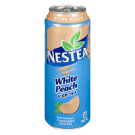Nestea Iced Tea, White Peach King Can