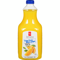Pulp-Free 100% Orange Juice Not From Concentrate
