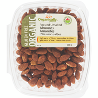 Organic Almonds, Roasted & Unsalted TEST