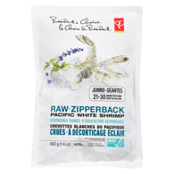 Raw Zipperback Responsibly Farmed Jumbo Pacific White Shrimp