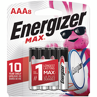 MAX Alkaline AAA Batteries, 8 Pack