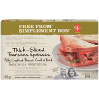 Thick Bacon Slices, Fully Cooked