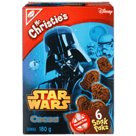Star Wars Cookie Snack Packs, Chocolate