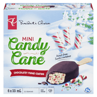 Mini Candy Cane Ice Cream, Chocolate Fudge Coating