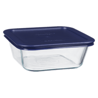 4-Cup Square Storage with Lid, Blue