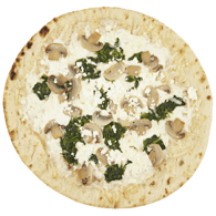 Pizza, Hot Mushroom and Spinach Feta