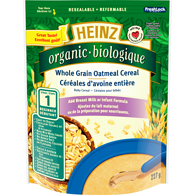 Organic Whole Grain Oatmeal Cereal, No Milk