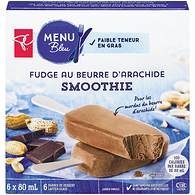 Barres smoothie fudge au beurre d'arachide